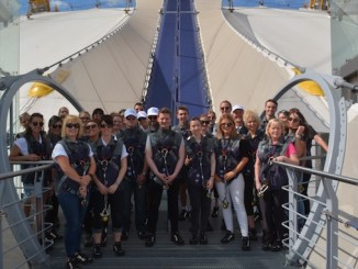 Jefferies Injury Lawyers staff at the O2 in London