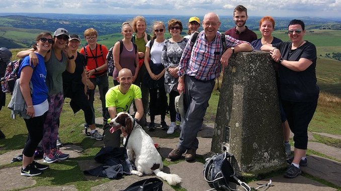 The Vernon team at the top of Shutlingsloe