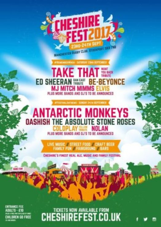 The Cheshire Fest line-up