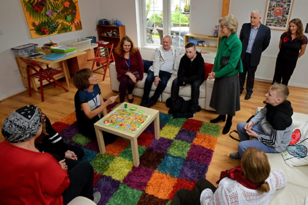 The Duchess  meets staff and service users at Beechwood