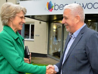 The Duchess of Gloucester with Beechwood CEO Ian Hodge