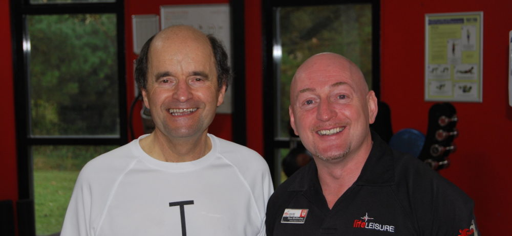 Brian Povey with Life Leisure PARiS Officer Dave McGlinchey