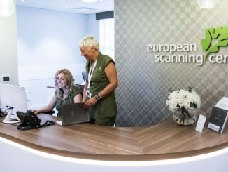 The reception area at the European Scanning Centre