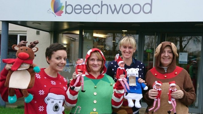 Beechwood patient Cassie Leigh Byrom with volunteers Freda Torkington, Sian Geddes and Cath Brindle
