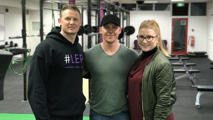 Lean Body Project owners Damien Coates and Lianne with business coach Kevin Walker