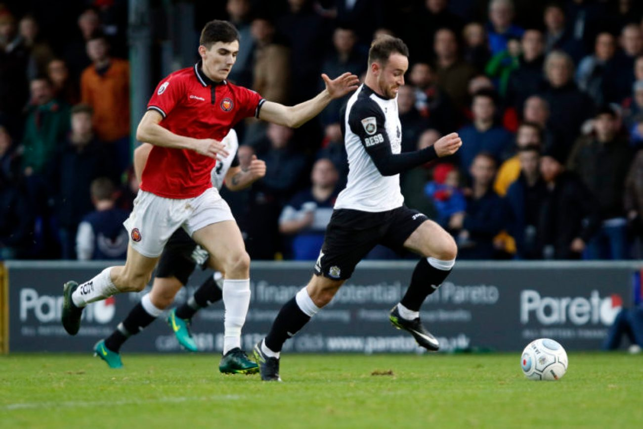 Matty Warburton. Stockport County FC 4-1 FC United, 4.11.17.