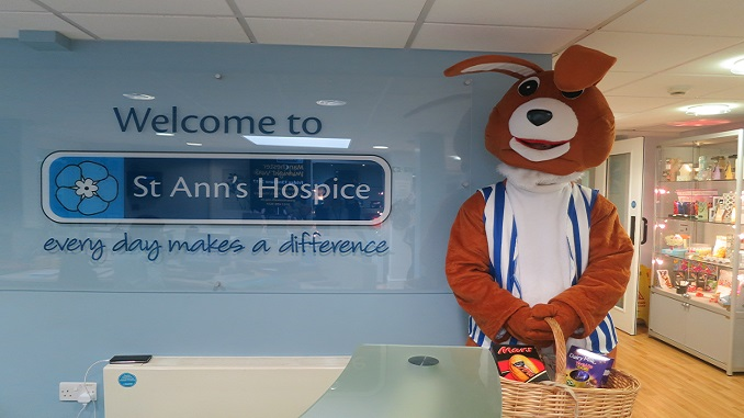 The Easter Bunny at St Ann's Hospice