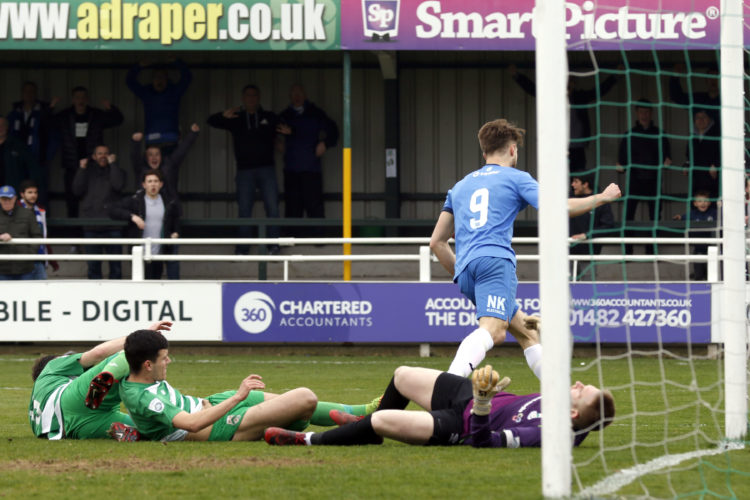 Jason Oswell opens the scoring for Stockport