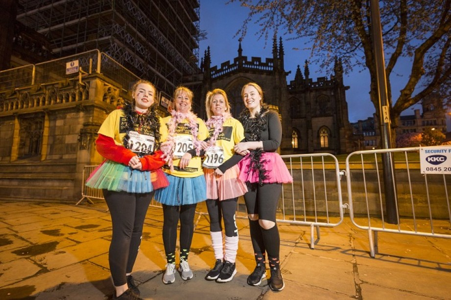 Reah Davison, Natalie McMullen, Caroline Davison and Morgan Pybus walking for Elsie Thompson (pic by Chris Bull)