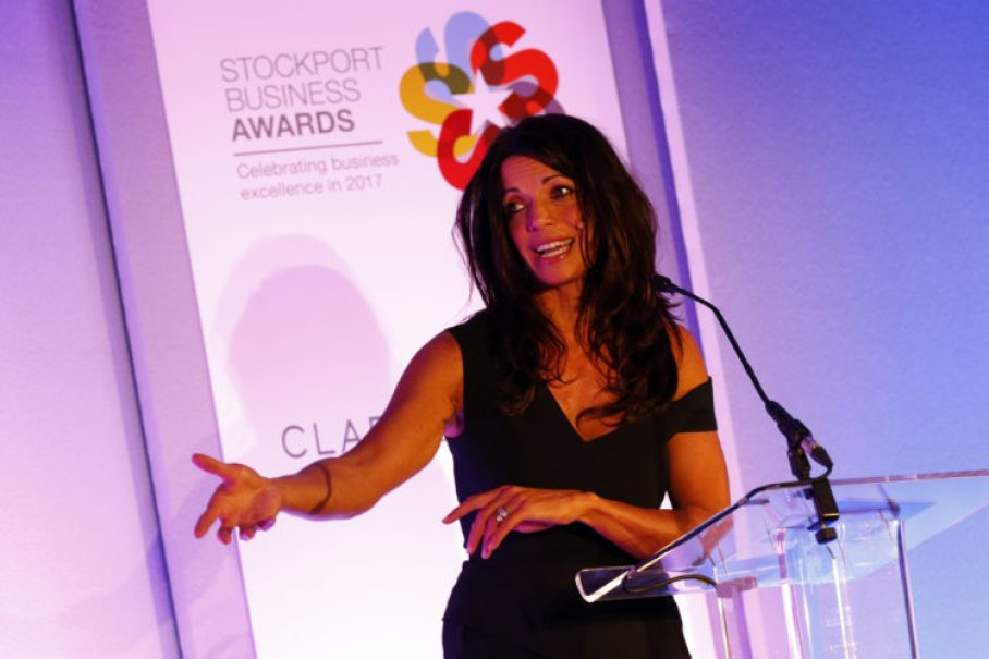 Jenny Powell at the 2017 Stockport Business Awards