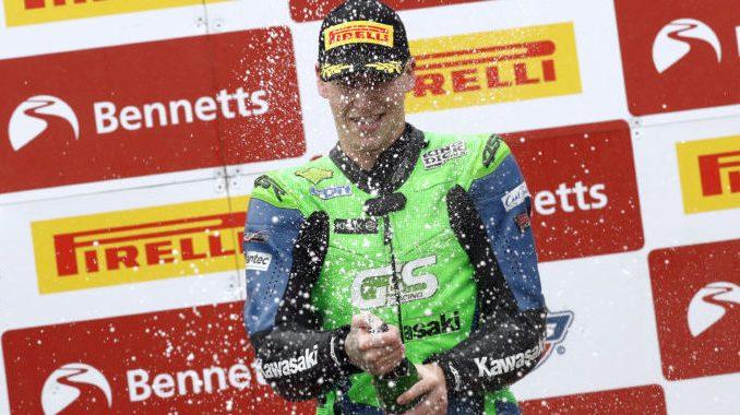 Ben Luxton celebrates his Oulton Park podium