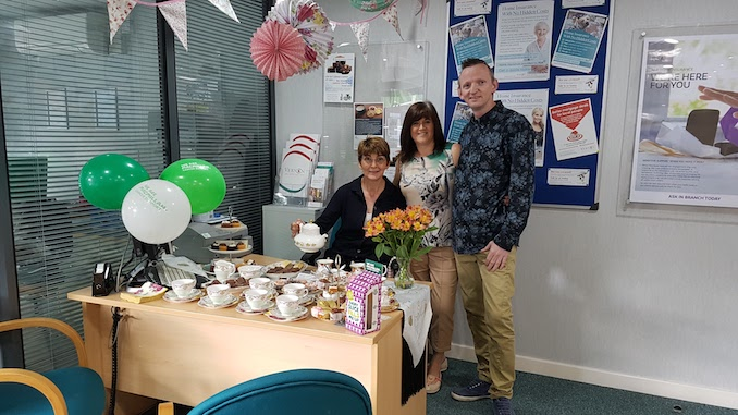 Vernon Building Society holds Macmillan Coffee Mornings
