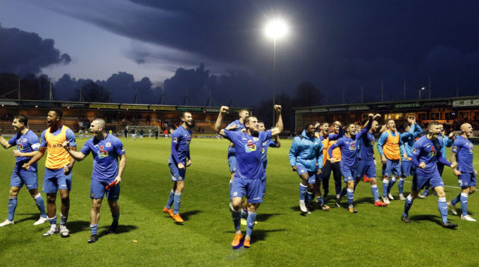 Stockport County stun Yeovil to reach FA Cup second round