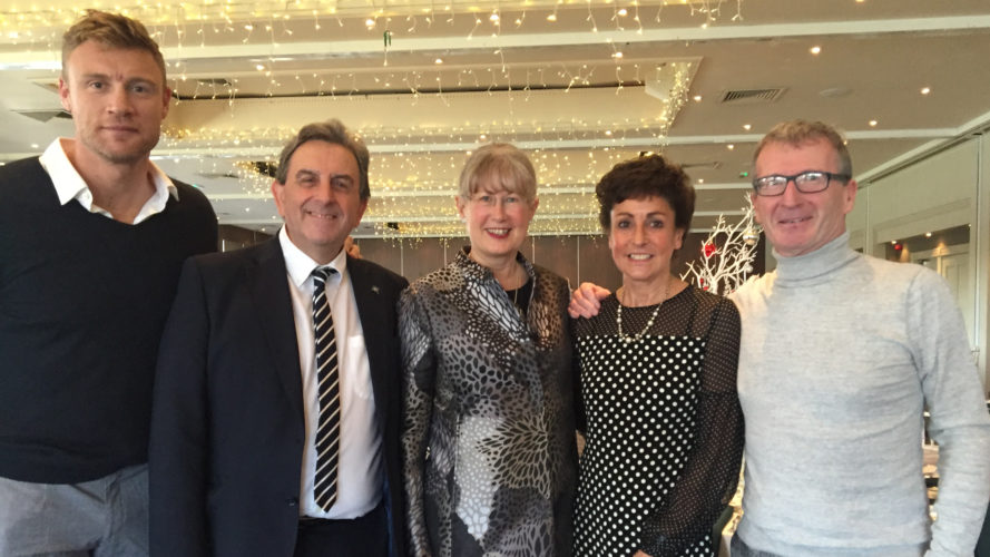 Andrew Flintoff stars at St Ann's Hospice charity lunch