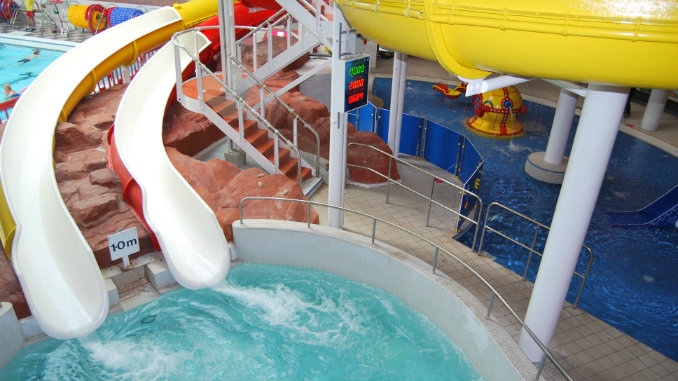 The refurbished slides at Grand Central