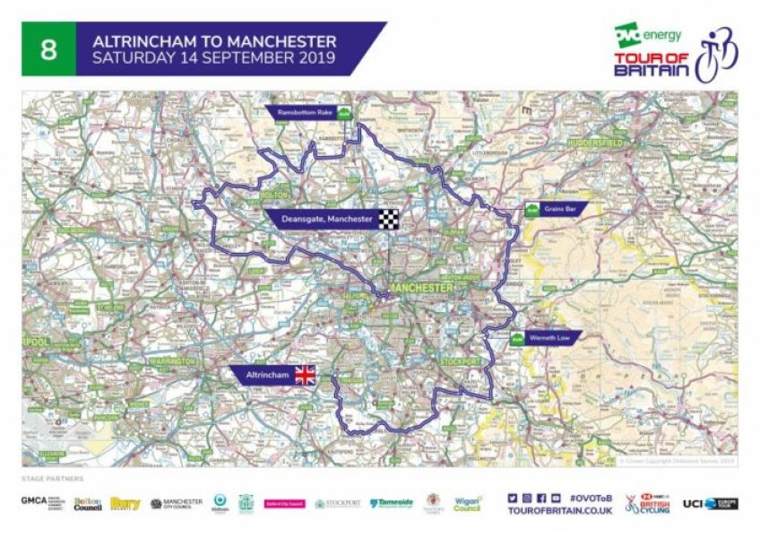 Tour of Britain 2019 route