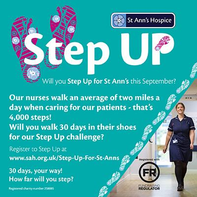 ST Ann's Hospice Step Up campaign advert