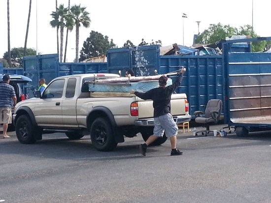 Dana Hills High School Bulky Item Drop Off by SouthOCBeaches.com