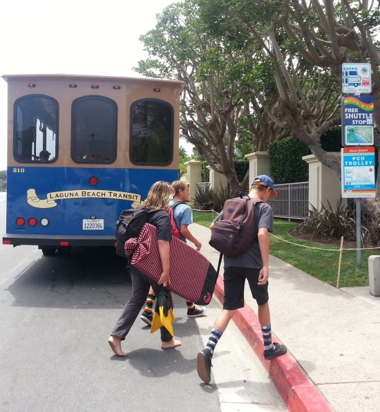 Laguna Beach Trolley by www.southocbeaches.com