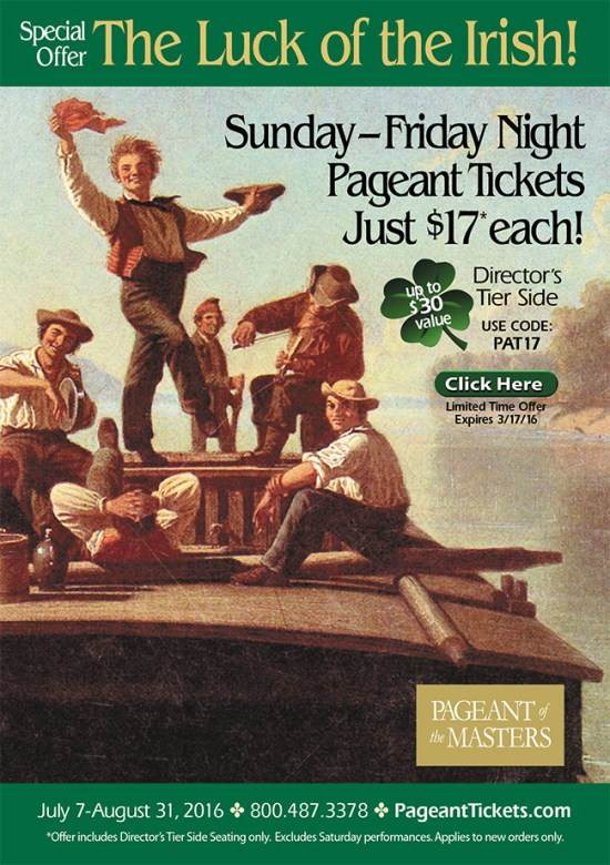 pageant of the master st. patricks day sale 2016