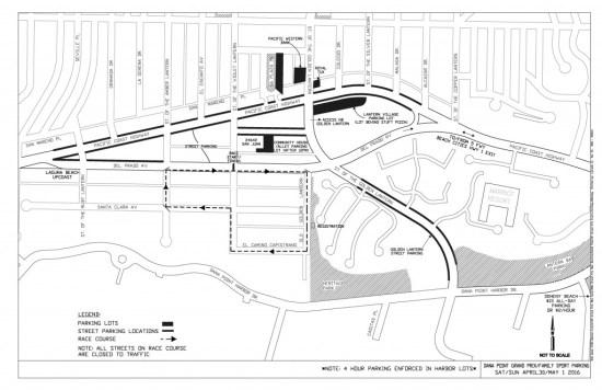 Dana Point Grand Prix 2016 Parking Map