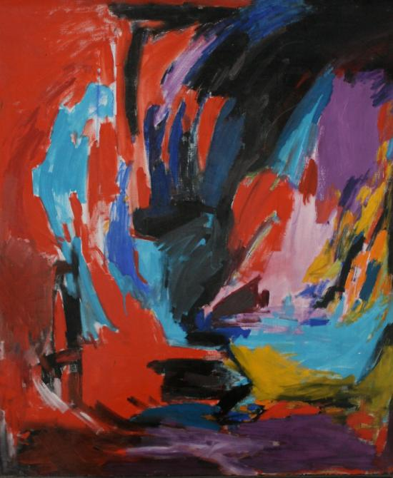 Sidi Gluck Painting Courtesy of The Alice Rice Gallery Laguna Beach CA