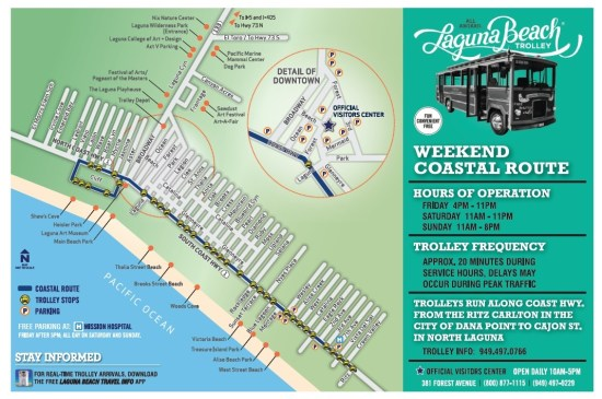 Laguna Beach Weekend Coastal Trolley 2016