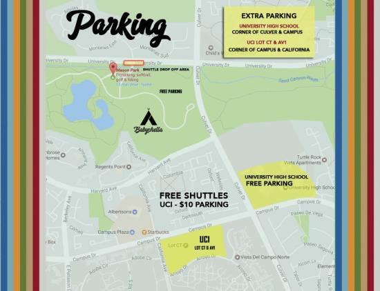 Babychella.com Parking Map March 12 2017