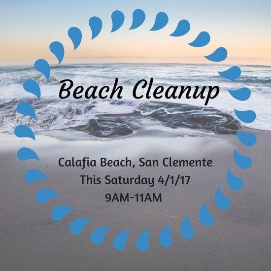 San Clemente Calafia Beach Cleanup April 1 2017 Courtesy of Coastkeeper.org