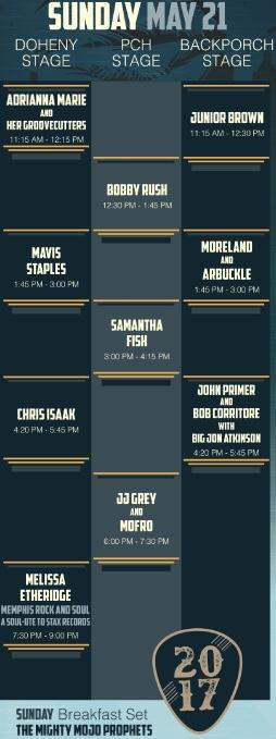 Dana Point Doheny Blues Festival Sunday May 21 2017 Lineup
