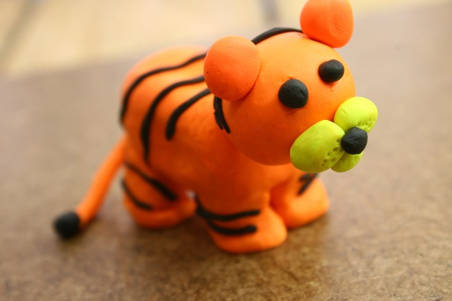 Play Doh Tiger Courtesy of WikiHow.com
