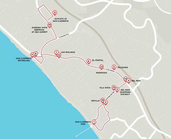 San Clemente Trolley Map