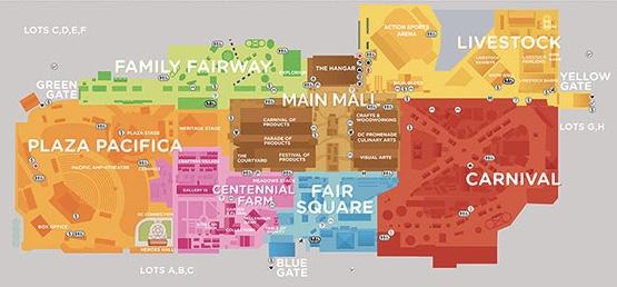 Orange County Fair Map 2017 Courtesy of OCFair.com