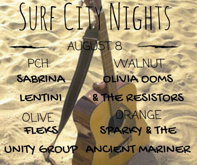 Huntington Beach Surf CIty Nights Music Lineup August 8 2017