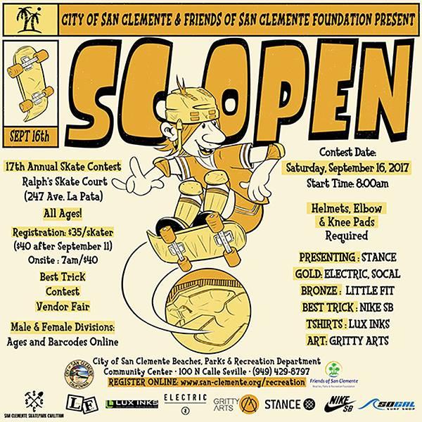 San Clemente Open Skate Contest September 16 2017