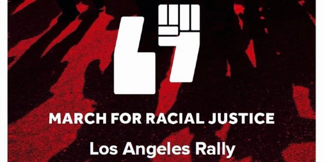 March For Racial Justice Los Angeles October 1 2017