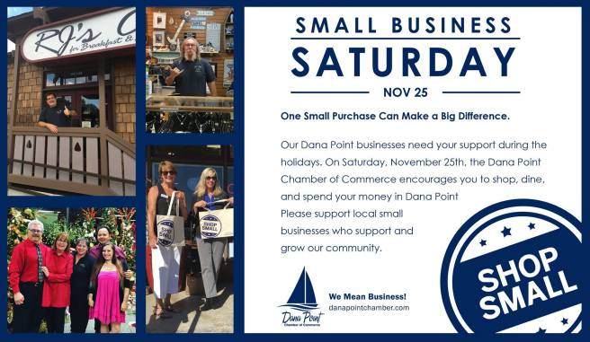 Dana Point Shop Small Saturday November 25 2017