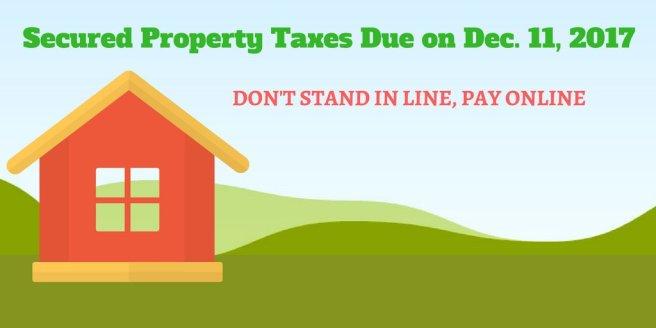 OC Property Taxes Due December 11 2017