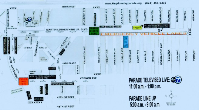 Kingdom Day Parade 2018 Parade Map