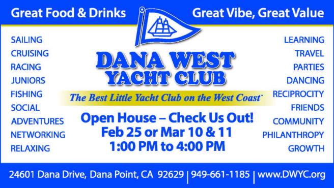 Dana West Yacht Club Open House February 25 2018