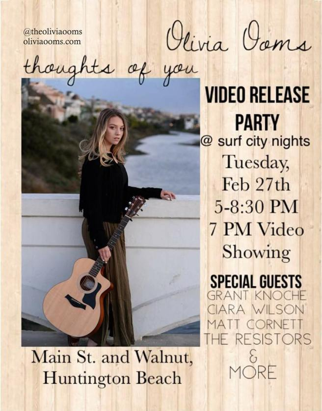 Olivia Ooms Huntington Beach Surf City Nights Video Release Party February 27 2018