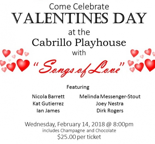 Cabrillo Playhouse Valentine's Day Concert February 14 2018
