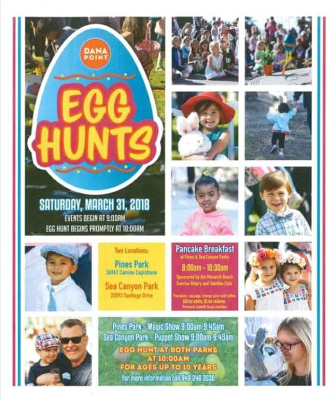 Dana Point Easter Egg Hunt March 31 2018