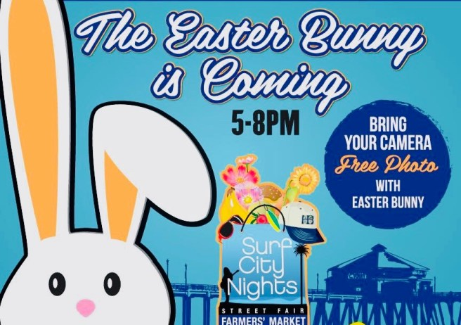 Huntington Beach Surf City Nights Easter Bunny March 27 2018