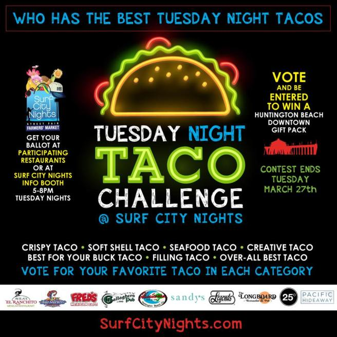 Huntington Beach Surf City Nights Taco Challenge March 2018