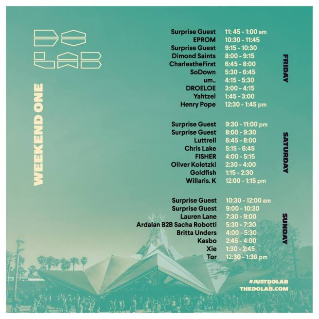 Coachella 2018 Do Lab Lineup