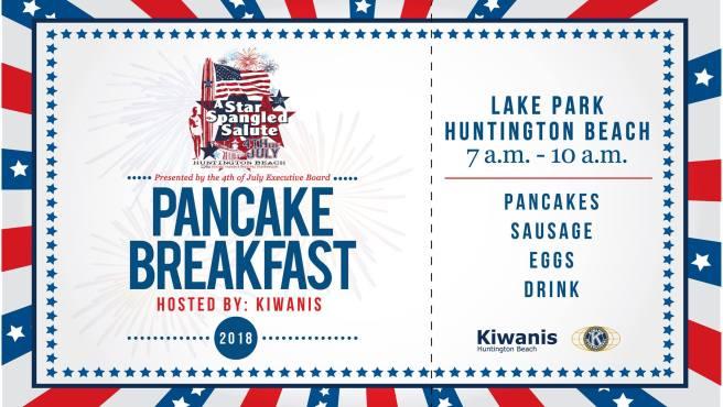 Huntington Beach Pancake Breakfast July 4 2018