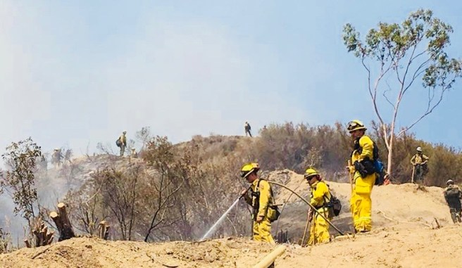 #HolyFIre August 14 2018 Courtesy of U.S. Forest Service Cleveland National Forest