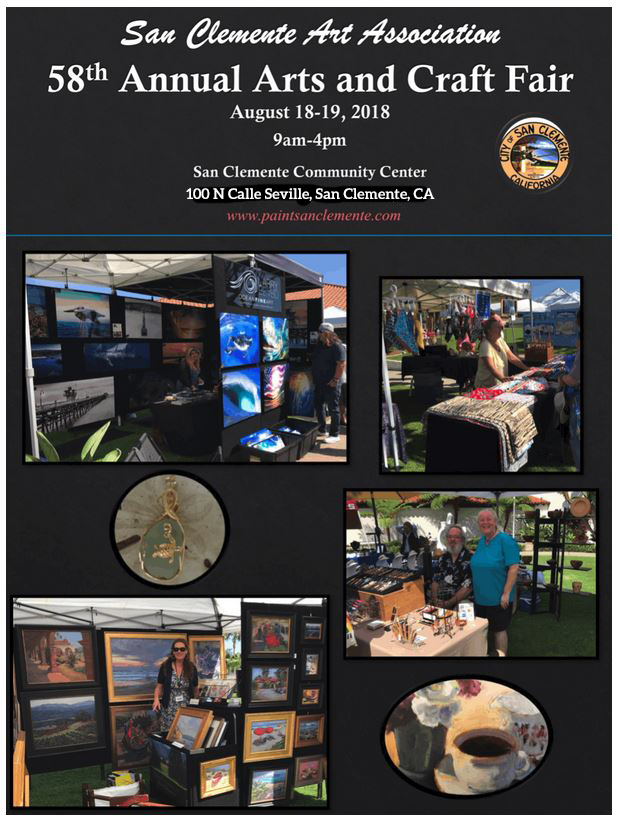 San Clemente Arts & Crafts Fair Saturday August 18 2018