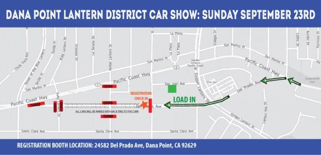 Dana Point Car & Motorcycle Show Map Sunday September 23 2018